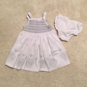 Calvin Klein baby dress and bloomers